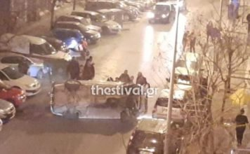 θεσσαλονίκη-ανατροπή-οχήματος-με-την