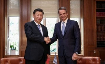 μητσοτάκης-με-τον-πρόεδρο-της-κίνας